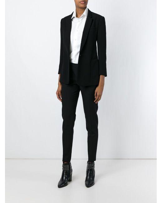 Брюки Кроя Скинни Saint Laurent                                                                                                              чёрный цвет