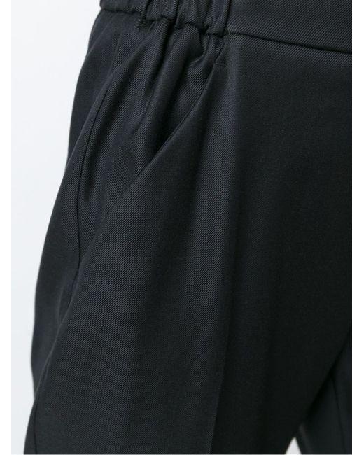 Классические Зауженные К Низу Брюки MM6 by Maison Margiela                                                                                                              чёрный цвет