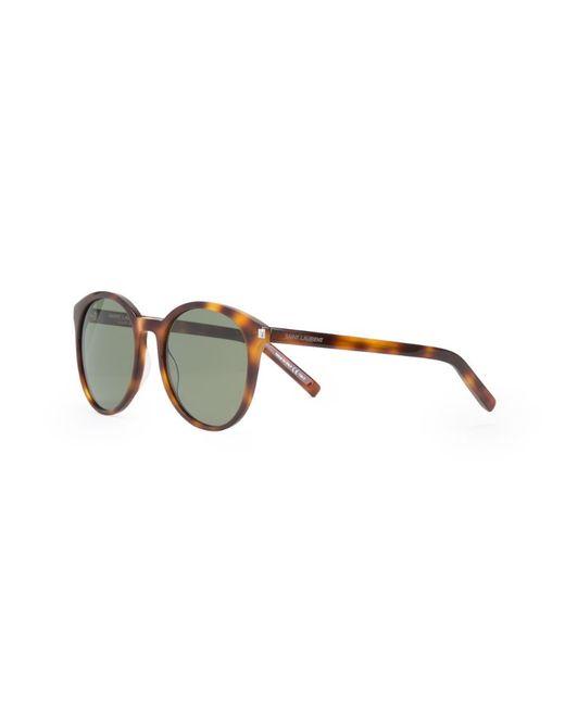 Солнцезащитные Очки С Узором Черепашьего Панциря Saint Laurent                                                                                                              коричневый цвет