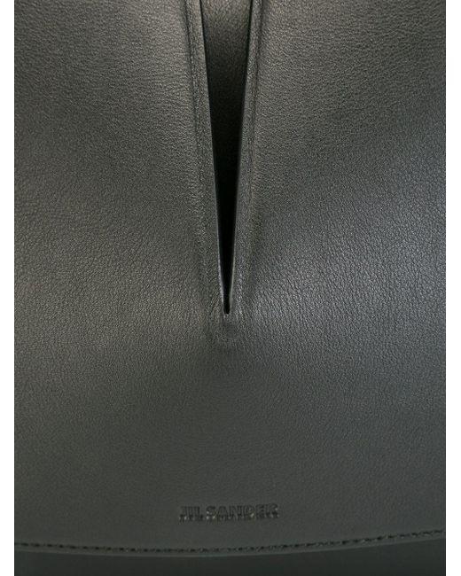 Сумка На Плечо С Вырезной Деталью Jil Sander                                                                                                              чёрный цвет