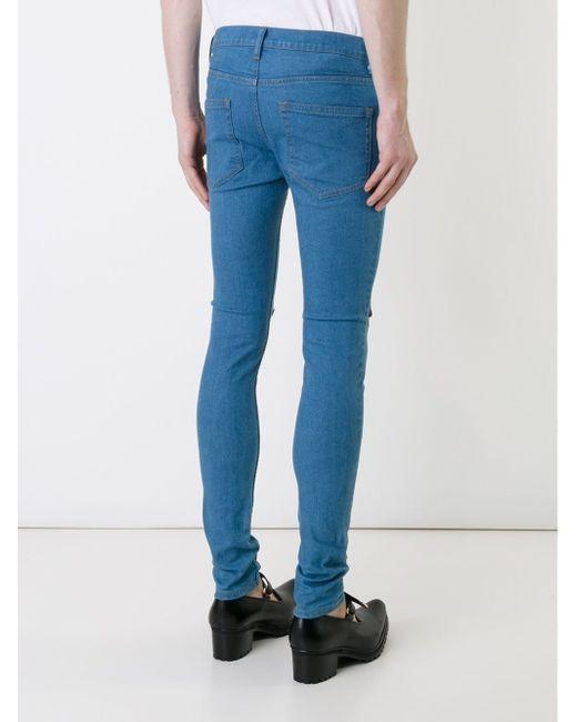 Джинсы Кроя Скинни С Вышивкой DRESS CAMP                                                                                                              синий цвет