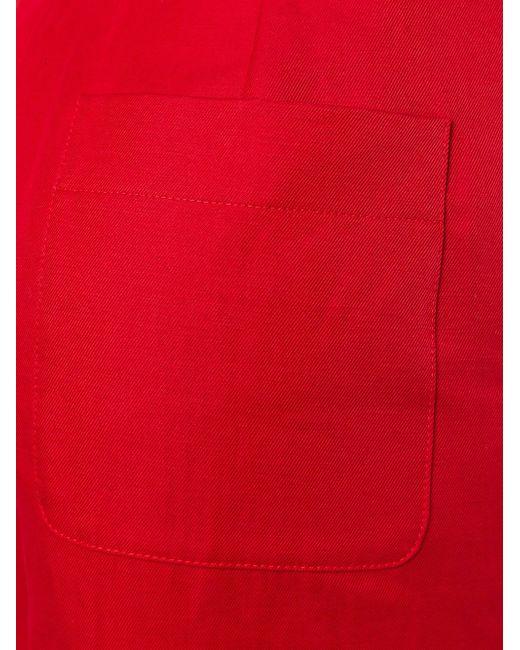 Укороченные Широкие Брюки Sonia Rykiel                                                                                                              красный цвет