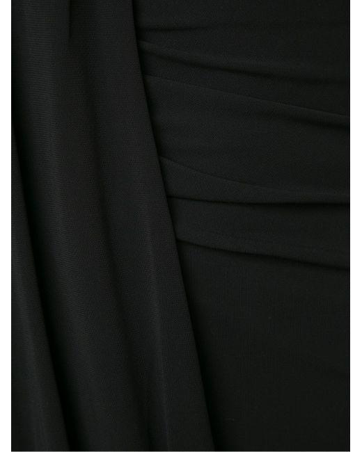 Драпированное Мини-Платье Anthony Vaccarello                                                                                                              чёрный цвет