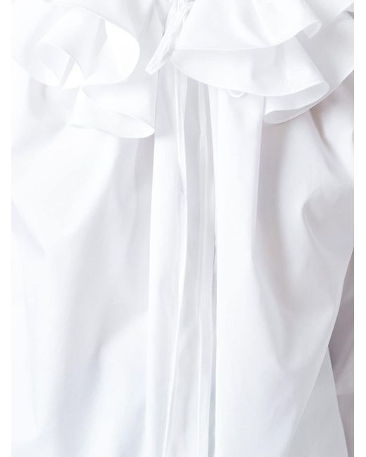 Рубашка С Оборками Jil Sander                                                                                                              белый цвет