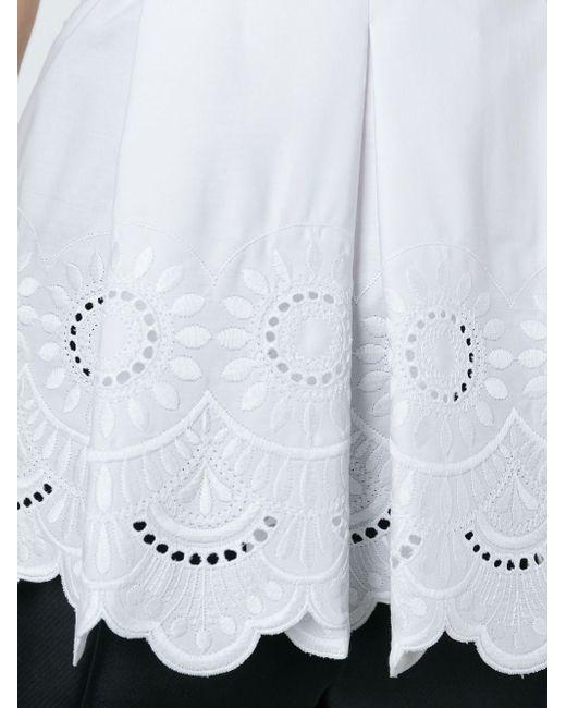 Топ C V-Образным Вырезом Alberta Ferretti                                                                                                              белый цвет