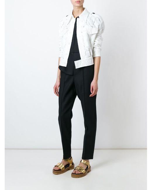 Кружевная Куртка-Бомбер No21                                                                                                              белый цвет