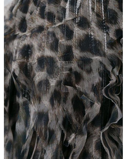 Юбка С Леопардовым Принтом Just Cavalli                                                                                                              чёрный цвет