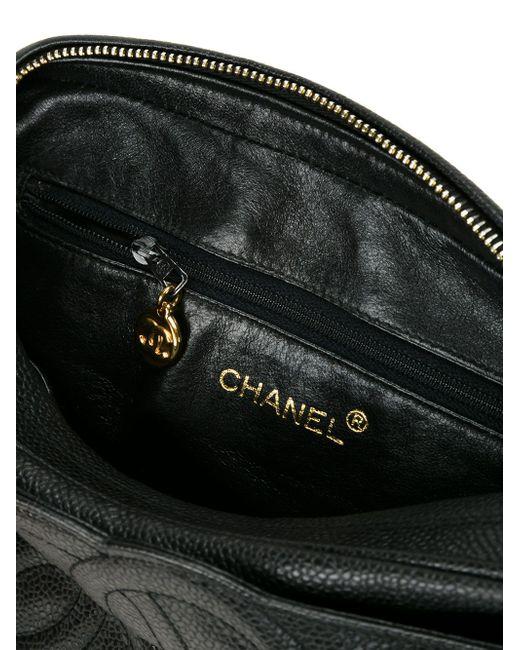 Сумка Через Плечо С Тисненым Логотипом Chanel Vintage                                                                                                              чёрный цвет