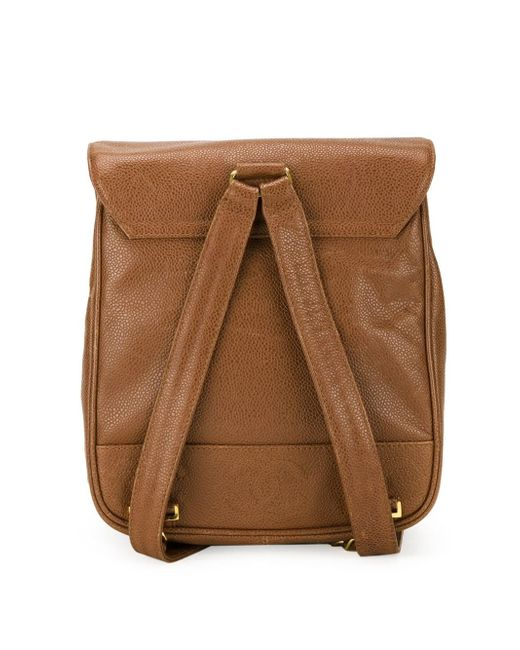 Классический Рюкзак Chanel Vintage                                                                                                              коричневый цвет