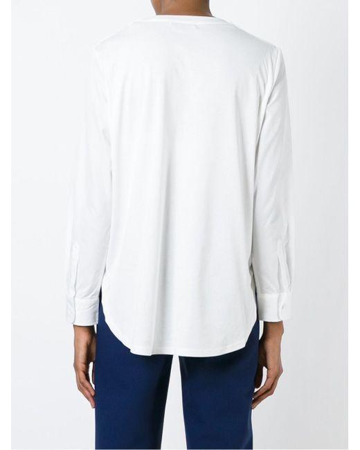Блузка С Рваными Деталями Tsumori Chisato                                                                                                              белый цвет