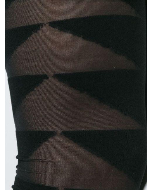 Леггинсы С Прозрачными Панелями Rick Owens Lilies                                                                                                              чёрный цвет