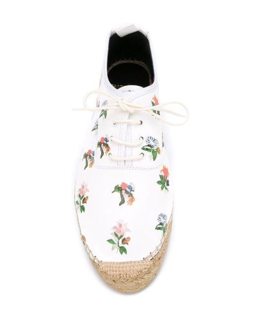 Эспадрильи С Цветочным Принтом Saint Laurent                                                                                                              белый цвет