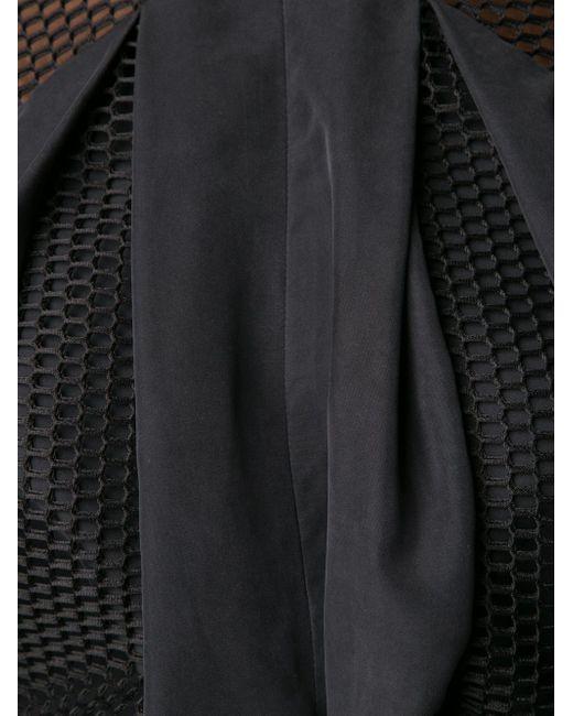 Сетчатый Драпированный Топ MICOL RAGNI                                                                                                              чёрный цвет