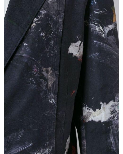 Блейзер С Принтом Yohji Yamamoto                                                                                                              чёрный цвет
