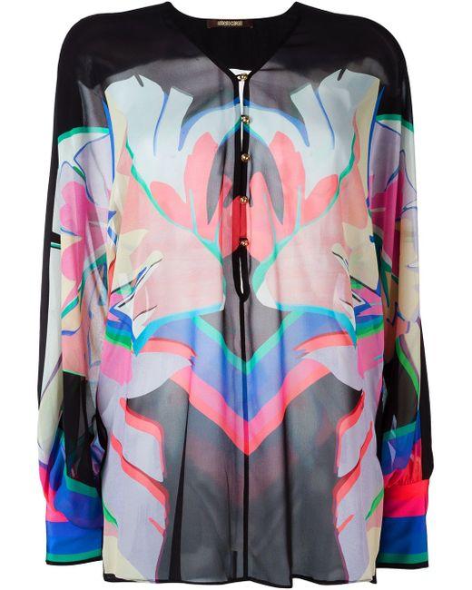 Блузка С Принтом Roberto Cavalli                                                                                                              чёрный цвет
