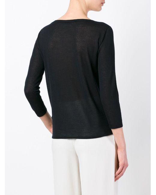 Трикотажный Джемпер Agnona                                                                                                              чёрный цвет