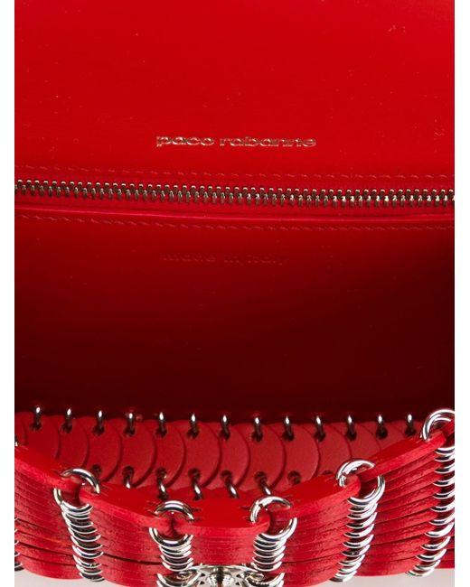 Сумка Через Плечо С Элементом Кольчуги Paco Rabanne                                                                                                              красный цвет