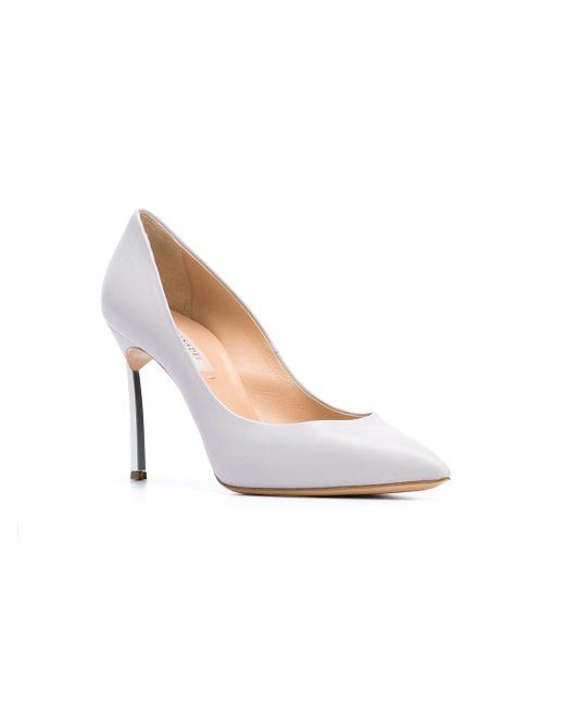 Туфли С Заостренным Носком Casadei                                                                                                              серый цвет
