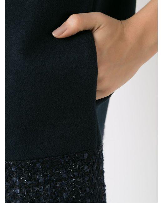 Tweed Panel Coat GLORIA COELHO                                                                                                              чёрный цвет