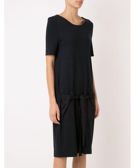 Side Pockets Dress GLORIA COELHO                                                                                                              чёрный цвет