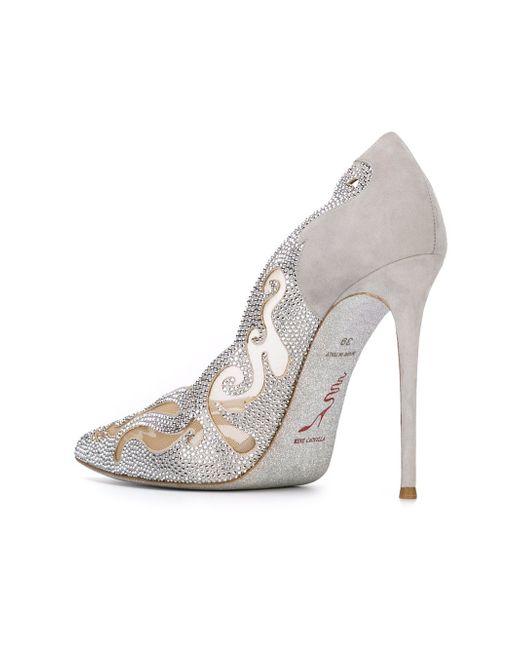 Декорированные Туфли Electric Rene' Caovilla                                                                                                              серый цвет