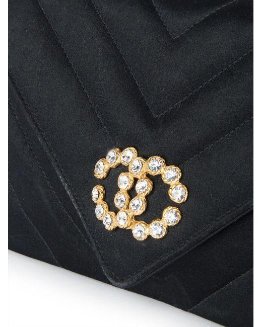 Сумка На Плечо С Цепочной Отделкой Chanel Vintage                                                                                                              чёрный цвет