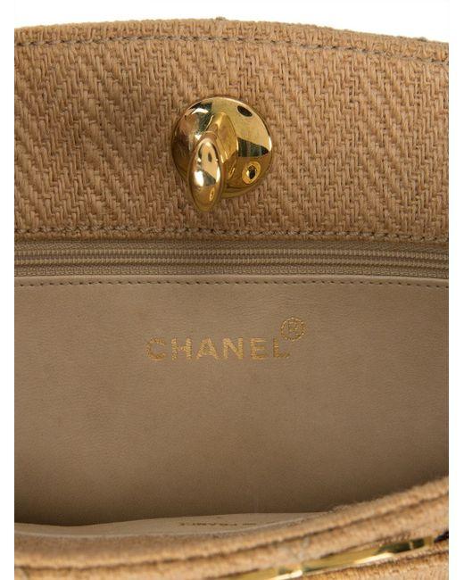 Сумка На Плечо С Цепочной Отделкой Chanel Vintage                                                                                                              коричневый цвет