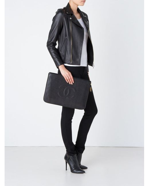 Клатч Chanel Vintage                                                                                                              чёрный цвет