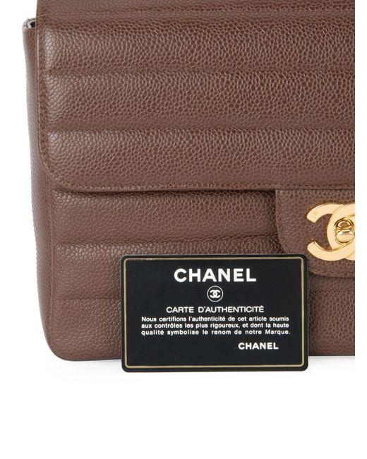 Стеганая Сумка На Плечо С Цепочной Отделкой Chanel Vintage                                                                                                              коричневый цвет