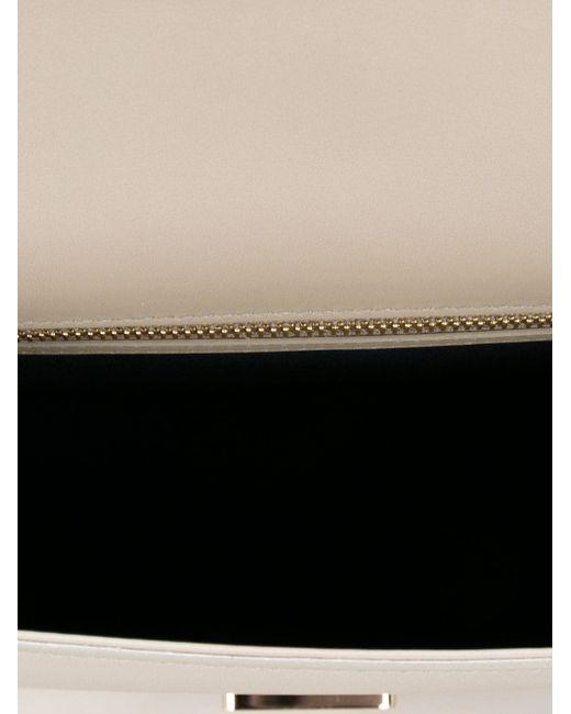 Мини Сумка Через Плечо Grosvenor Smythson                                                                                                              серый цвет
