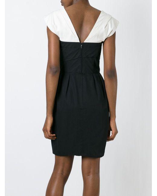 Платье С Контрастными Рукавами Lanvin                                                                                                              чёрный цвет