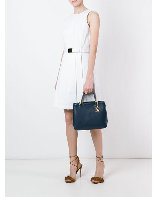 Расклешенное Платье С Поясом Michael Michael Kors                                                                                                              белый цвет