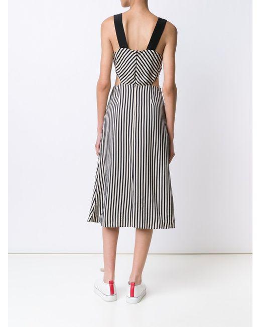 Полосатое Платье Lexa Misha Nonoo                                                                                                              чёрный цвет