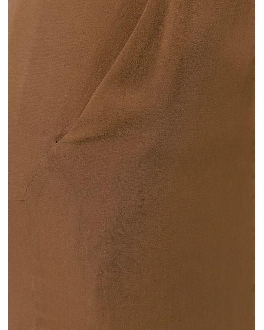 Длинная Юбка С Вырезом Сзади Rick Owens                                                                                                              коричневый цвет