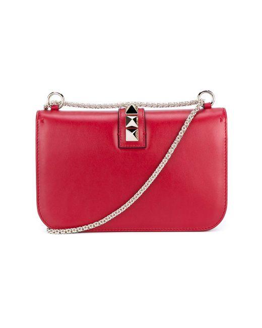 Сумка На Плечо Glam Lock Valentino Garavani                                                                                                              красный цвет