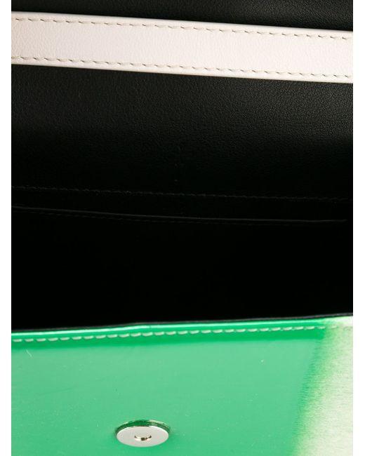 Сумка-Тоут В Стиле Колор-Блок M2Malletier                                                                                                              зелёный цвет