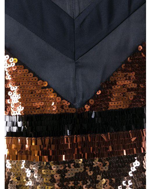 Полосатое Платье С Пайетками Sonia By Sonia Rykiel                                                                                                              синий цвет