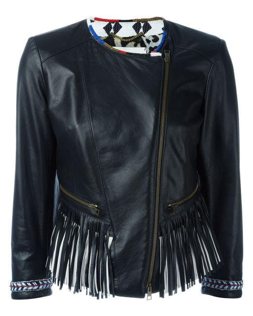 Байкерская Куртка С Бахромой BAZAR DELUXE                                                                                                              чёрный цвет