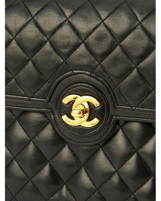 Сумка С Цепочной Ручкой Chanel Vintage                                                                                                              чёрный цвет
