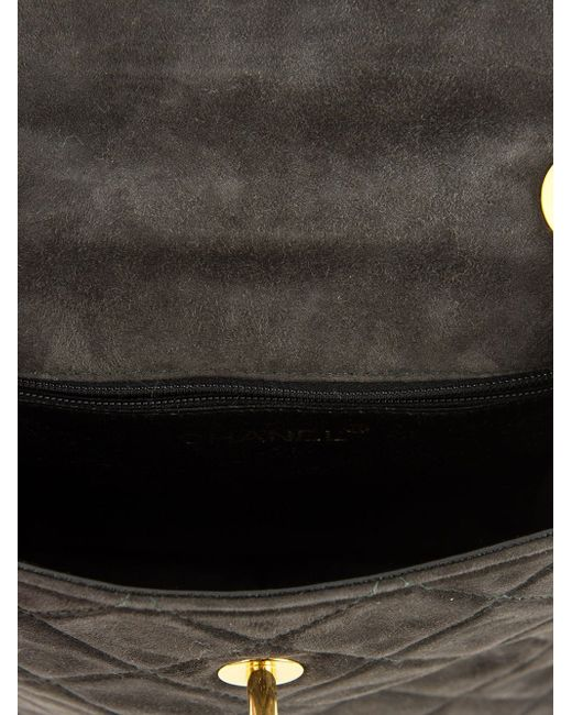 Сумка На Плечо С Цепочной Лямкой Chanel Vintage                                                                                                              серый цвет