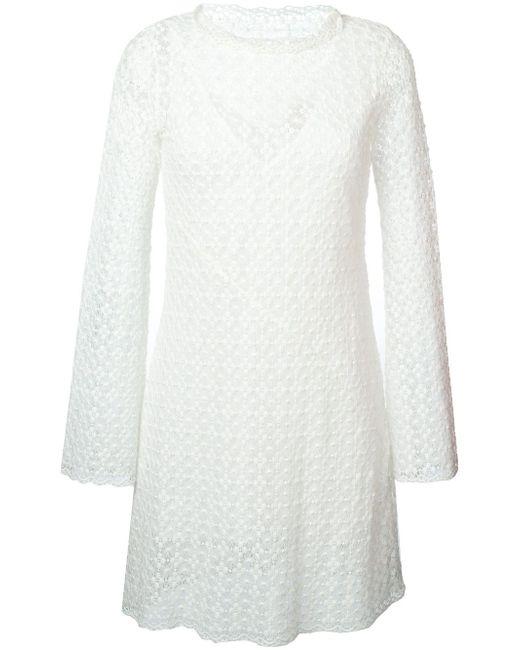 Кружевное Платье See By Chloe                                                                                                              белый цвет