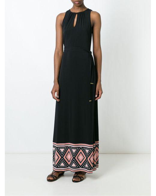 Платье Макси С Контрастным Подолом Michael Michael Kors                                                                                                              чёрный цвет