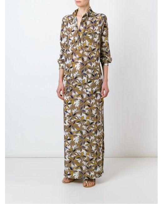 Платье Макси С Цветочным Принтом Agnona                                                                                                              Nude & Neutrals цвет