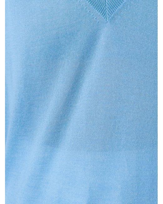 Свитер C V-Образным Вырезом Agnona                                                                                                              синий цвет