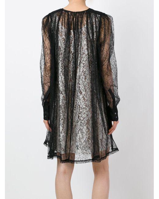 Кружевное Платье С Длинными Рукавами No21                                                                                                              чёрный цвет