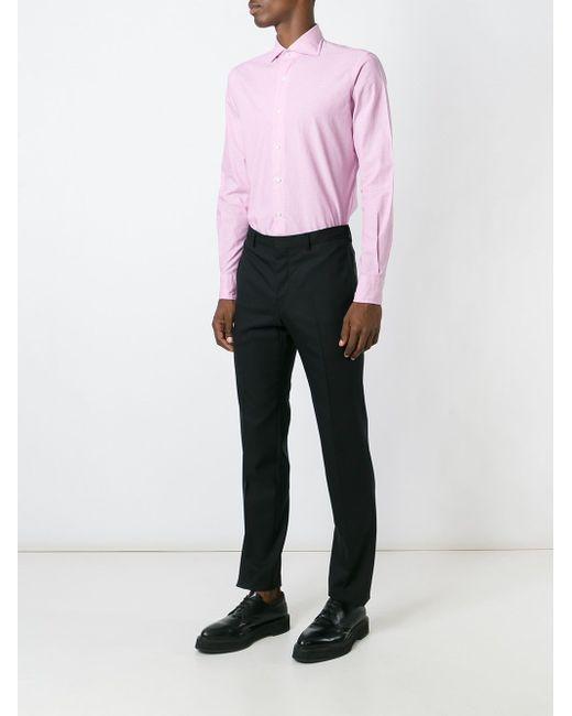 Рубашка С Микро-Принтом GABRIELE PASINI                                                                                                              розовый цвет