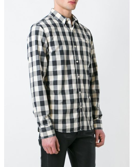 Рубашка В Клетку Pierre Balmain                                                                                                              чёрный цвет