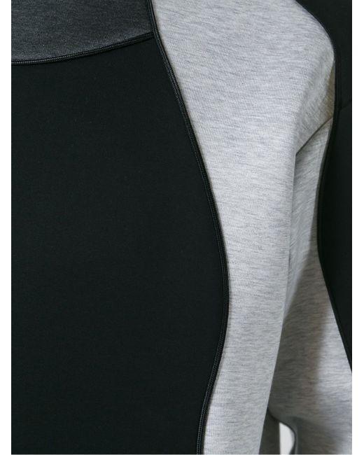 Толстовка С Панельным Дизайном Les Hommes                                                                                                              чёрный цвет
