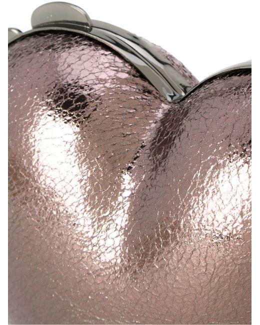 Heart Clutch SERPUI                                                                                                              серебристый цвет