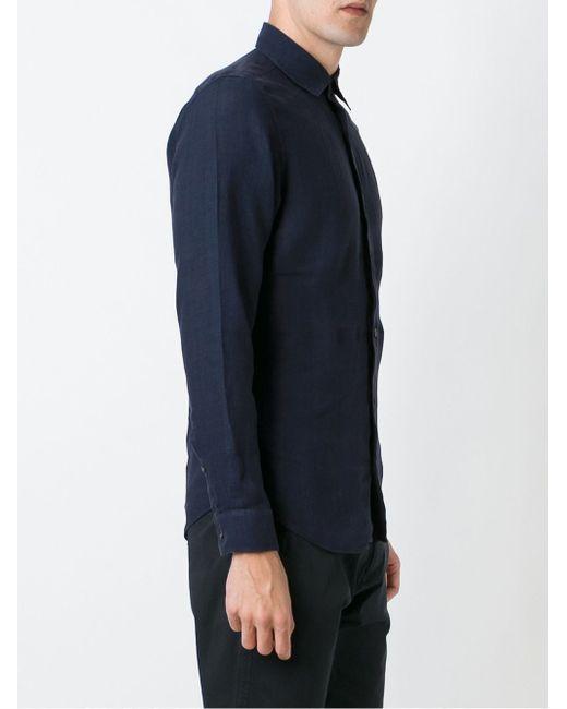 Классическая Рубашка Z Zegna                                                                                                              синий цвет